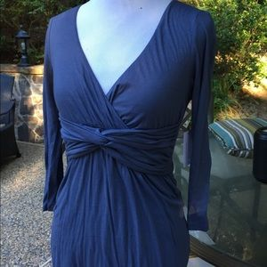 New- Velvet brand blue cotton dress-Small-S